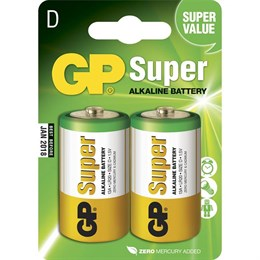 Batteri GP Super D/LR20 2/fp
