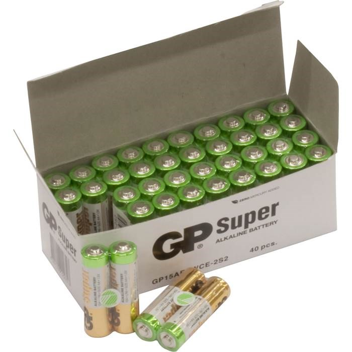 Batteri GP Super AA/LR06 40/fp